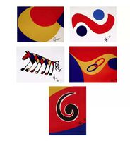 "Alexander Calder, 'Flying Colors Collection (5 Artworks); 1) ""Skyswirl,"" 2) ""Skybird,"" 3) ""Convection,"" 4) ""Beastie,"" 5) ""Friendship.""', 1974"