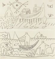 Pablo Picasso, 'Fisherman (Recto/Verso)', 1957