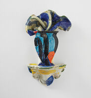 Betty Woodman, 'Untitled sculpture (vase on wall bracket)', circa 1990