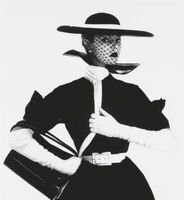 Irving Penn, 'B&W Fashion with Handbag 'B''