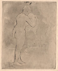 Standing Nude with a Towel