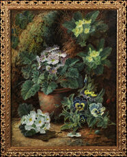 Still Life of Flowers on a Mossy Bank
