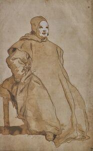 Giovanni Domenico Tiepolo, 'A Cleric, Probably a Benedictine Monk', 1751-1754