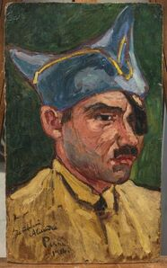 Jean Peske, 'Portrait d'un poilu', executed in 1916