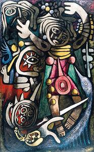 Julio De Diego, 'Ceremonial Dancers', 1948