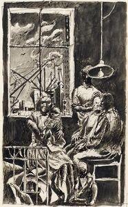 """Werner Tübke, 'Australien', Study to the murals """"Die Fünf Kontinente"""" in the Leipzig hotel """"Astoria"""" from 1958"""