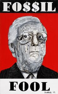 Robbie Conal, 'Fossil Fool (Mitch McConnell)', 2015