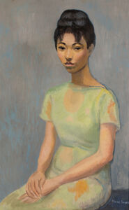 Isaac Soyer, '[Seated Woman in Green]', ca. 1955