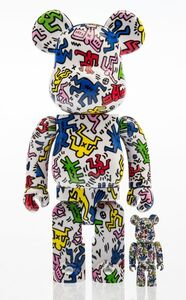 BE@RBRICK X Keith Haring Estate, 'Keith Haring 400% and 100% (two works)', 2017