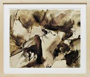Untitled Abstract Expressionist Pen and Ink Drawing