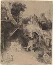 Saint Jerome Reading in an Italian Landscape