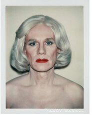 Andy Warhol, Polaroid Photograph, Self-Portrait in Drag (Andy Warhol in Drag), 1981