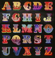 Ben Eine, 'Circus Alphabet Lenticular Black', 2017