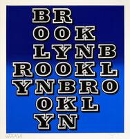 Ben Eine, ''Brooklyn' (dark blue blend)', 2018