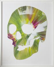 Spin Painting - Green Skull