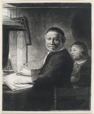LIEVEN WILLEMSZ VAN COPPENOL, WRITING-MASTER: THE SMALLER PLATE