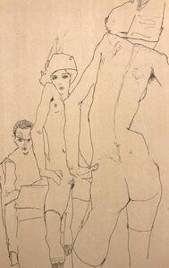 Egon Schiele, 'Schiele Drawing a Nude Model in front of a Mirror', 2007