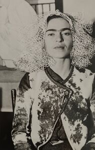Lucienne Bloch, 'Frida Kahlo at Lucienne Bloch's apartment, NYC', 1936