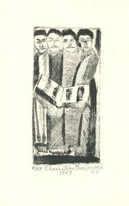 John Muafangejo, 'Choir', 1969