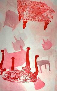 Myles Calvert, 'Lackadaisical (red)',  2019