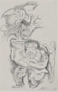 """Krishen Khanna, 'Untitled, Pencil on Paper, Black & White Colours by Modern Artist """"In Stock""""', ca. Circa"""