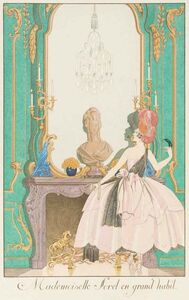 Georges Barbier, 'Mademoiselle Sorel en grand habit', 1920