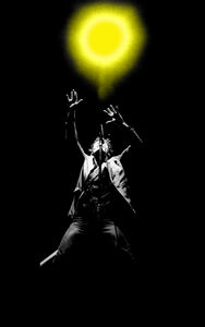 Richard E. Aaron, 'Bruce Springsteen 1980 Colorized Concert Light on Hahnemuehle paper', 1980