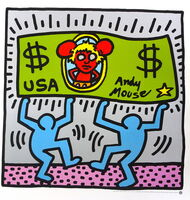 Keith Haring, 'Andy Mouse', 1986