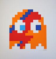 Invader, 'Aladdin Sane - Clyde (Orange)', 2014