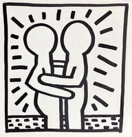 Keith Haring, 'Keith Haring (untitled) Best Buddies Lithograph 1982', 1982