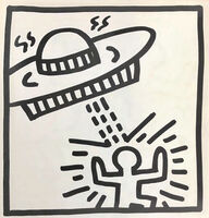 Keith Haring, 'Keith Haring (untitled) Spaceship lithograph 1982 ', 1982
