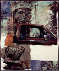 Untitled (Native American with Truck)