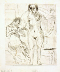 Zwei Badende (Two bathing Woman)