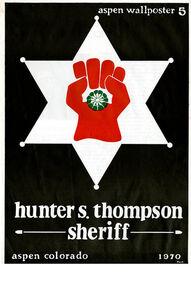 Thomas W. Benton and Hunter S. Thompson, 'Aspen Wallposter #5', 1970