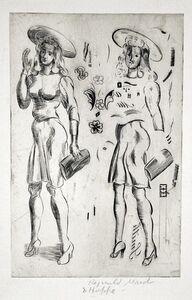 Reginald Marsh, 'Girl Standing - Repeated', 1943