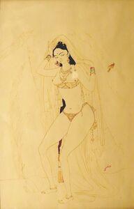 Abdur Rahman Chughtai, 'Jahanara at the Taj', ca. 1950