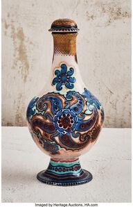 Galileo Chini, 'Blooming Genie Bottle Vase', circa 1900