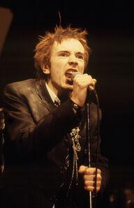 Richard E. Aaron, 'Johhny Rotten Singing 1978 on Hahnemuehle paper'