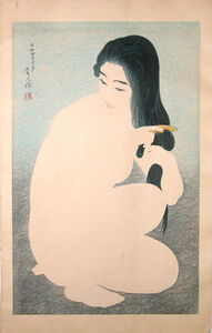 Kotondo Torii, 'Woman Combing Her Hair', October 1929