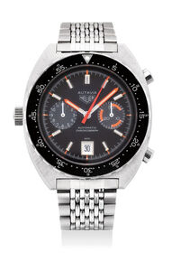 Heuer, 'A rare and well-preserved stainless steel chronograph wristwatch with date and bracelet', Circa 1970s