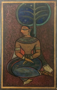 Jamini Roy, 'Untitled (Seated Woman)', NA