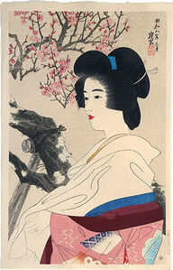 Itō Shinsui, 'The Second Collection of Modern Beauties: Red Blossoms', 1933
