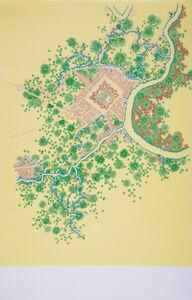 Tiffany Chung, 'Don Ca Tre (c.1698) in Le Brun's 1795 Urban Planning Map of Saigon', 2013