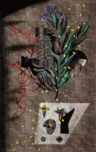 Anju Dodiya, 'Listener II', 2015