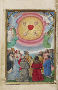 Simon Bening, 'The Worship of the Five Wounds', 1525-1530