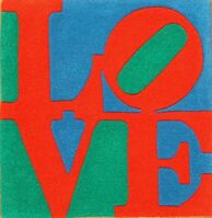 Robert Indiana, 'Classic LOVE tapestry', 1995