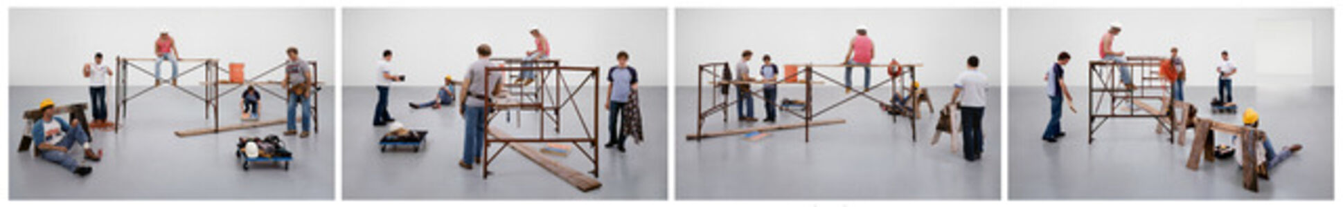 "Sharon Lockhart, 'Lunch Break installation, ""Duane Hanson: Sculptures of Life,"" 14 December 2002- 23 February 2003, Scottish National Gallery of Modern Art', 2003"