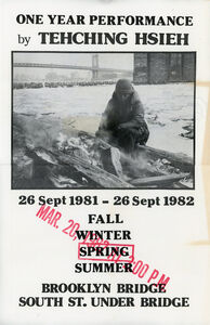 Tehching Hsieh, 'Sam Hsieh, One Year Performance: Outdoors - Spring, Poster', 1982