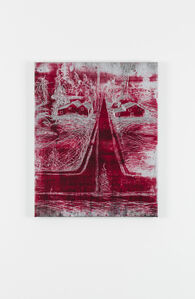 Michael Raedecker, 'demo (linchpin-red)', 2020