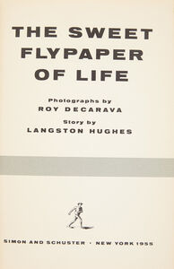 Langston Hughes, '[PHOTOBOOK] The Sweet Flypaper Of Life', 1955